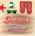 summer holiday background vector image vector image