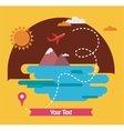 summer holidays travel around the world vector image vector image
