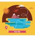 summer holidays travel around world vector image vector image
