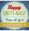 Vintage Birthday Card vector image vector image