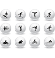 Web buttons games and sport icons vector | Price: 1 Credit (USD $1)