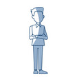 young businessman standing with folded arms vector image vector image