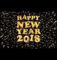 2018 happy new year gold ballon black background vector image