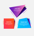 abstract speed geometric origami banner vector image