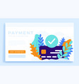 accepted payment credit card stock for landing vector image
