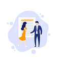 agreement people shaking hands vector image