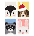 animals poster collection on vector image