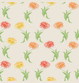 beige floral seamless pattern with aster flowers vector image vector image