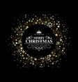 black christmas card with a circular decoration vector image vector image