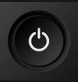 Black plastic power button vector image