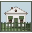 building white home icon vector image