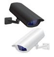 cctv security surveillance camera black and white vector image