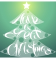 Christmas Lettering Tree vector image vector image