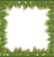 christmas pine fir frame vector image