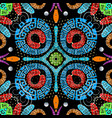 colorful greek paisley seamless pattern vector image vector image