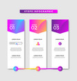 colorful professional infographic web banner vector image