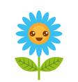 cute happy kawaii flower decoration cartoon vector image