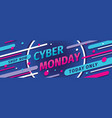 cyber monday concept promotion horizontal banner vector image