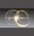 digital light rays and lens flare on transparent vector image vector image