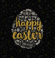 Easter greeting card with hand drawn element vector image