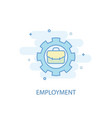 employment line concept simple line icon colored vector image