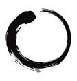enso zen circle brush black ink vector image