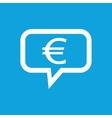 Euro message icon vector image vector image
