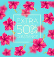 extra clearance - background with tropical flowers vector image
