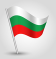 flag bulgaria vector image vector image