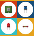 flat icon appliance set of transducer recipient vector image vector image