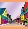funky journey pedestrian street in european city vector image vector image
