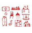 Furniture icons set funny vector image vector image