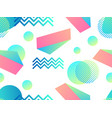 geometric seamless pattern in memphis style of vector image vector image