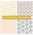 geometric seamless pattern set vector image vector image