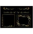 golden wavy design elements - set vector image
