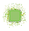 Green Confetti Banner Set of Particles vector image vector image