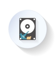 HDD disk flat icon vector image