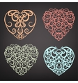 Heart pattern set vector image vector image
