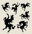 Horse dancing silhouettes vector image vector image