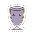 kawaii cup glass crystal drink cut line vector image vector image