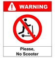 No scooters allowed symbol prohibition vector image vector image