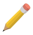 Pencil with eraser cartoon icon vector image