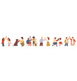 people giving high five friends and couples set vector image