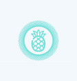 pineapple icon sign symbol vector image vector image