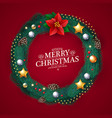 realistic christmas wreath with fir tree branches vector image vector image