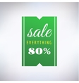 Sale sticker icon Shopping Discount and vector image vector image