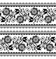 scandinavian seamless pattern with fl vector image vector image