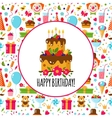 Seamless Birthday Pattern vector image vector image