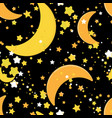 seamless repeating background with stars and vector image vector image