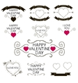 Set of emblems or decoration for Valentines Day vector image
